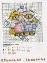 Схема вышивки крестом мишек Тедди, выбор материалов, советы